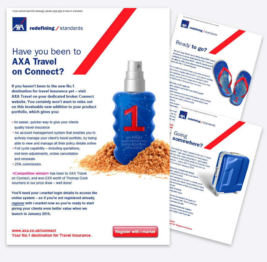 Landscape Making The Complex Simple A Campaign To Position Axa As The First Choice In Travel